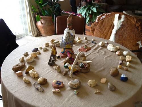 Evander Hughes stone mandala