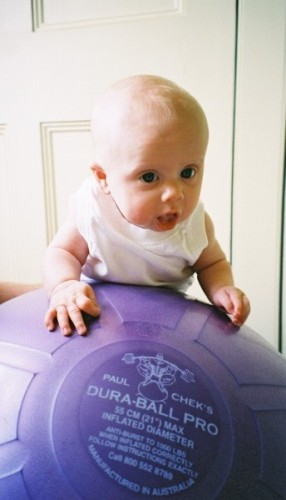 Baby on Dura ball