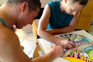 Jason P Rory M drawing Soul Bird