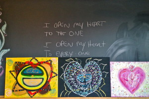 Heart Open sutra and art