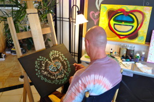 Paul painting I Open My Heart sutra