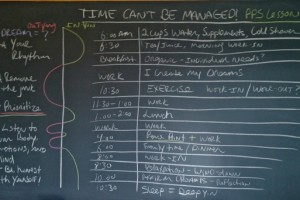 Time Can't Be Managed Blk Bd