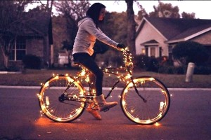 Bicycle Battery Operated Christmas Lights