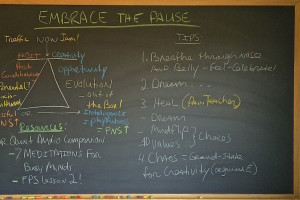 Embracing The Pause Blk Bd
