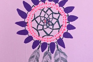 Angie Dream Catcher acrylic