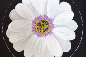 White Flower acrylic PC