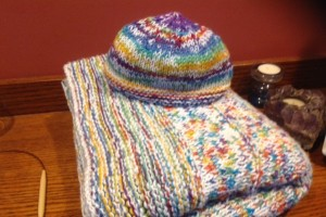Mana Sweater and hat from Mom