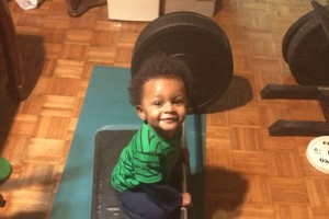 Tomi Toles Grandson Liam deadlift