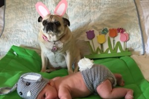 Maggie and Mana Easter 2016