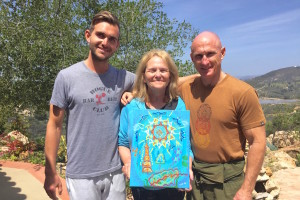 Greg Phyllis and Paul art healing