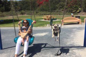Mana and Maggie Swinging