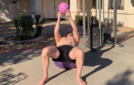 A Swiss Ball and a Kettlebell