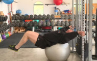 The Swiss Ball Reverse Crunch